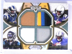 2015 Topps Supreme Gurley Yeldon Gordon Abdullah rookie quad patch #D02/10 *5590