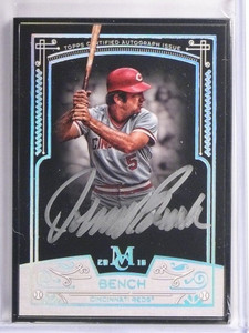 2016 Topps Museum Collection Black Framed Johnny Bench autograph #D3/5 *55089