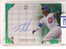 2015 Topps Tribute Green Jorge Soler rookie autograph auto #D95/99 *51838
