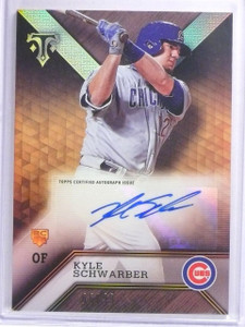 2016 Topps Triple Threads Kyle Schwarber Rookie Autograph #D66/99 #ARCKS *63961
