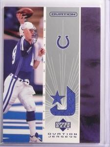 2002 Upper Deck Ovaton Peyton Manning Jersey #OJPM *53723