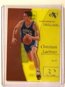 12-13 UD Fleer Retro EX Essential Credentials Christian Laettner #D04/19 *41274