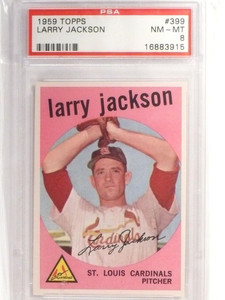 1959 Topps Larry Jackson #399 PSA 8 NM-MT *49279