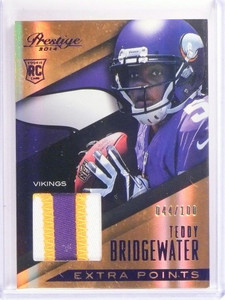 2014 Panini Prestige Extra Points Teddy Bridgewater rookie patch #D44/100 *50801