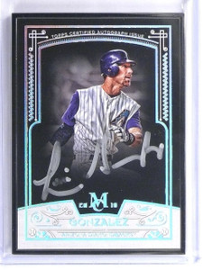 2016 Topps Museum Collection Framed Black Luis Gonzalez autograph #D1/5 *55870