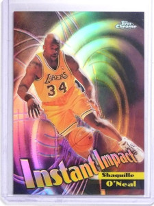 1999-00 Topps Chrome Instant Impact Refractor Shaquille O'Neal #I5 *64133