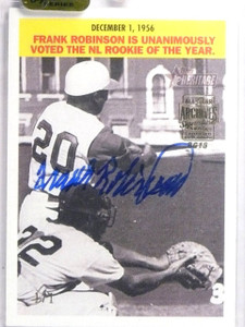 2016 Topps Archives Signature Series Frank Robinson Autograph #D1/1 2005 TH *639