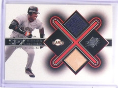 2001 Upper Deck SPx Winning Materials Barry Bonds Bat Jersey #BB1 *59658