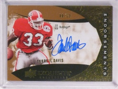 2014 Upper Deck Exquisite Endorsements Terrell Davis autograph auto /25 *53491