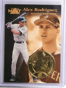 1997 Pinnacle Mint Coins Gold-Plated Alex Rodriguez #3 *59304
