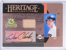 2005 Diamond Kings Heritage Collection Will Clark autograph abt #D15/25 *58542