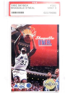 1992-93 Skybox Shaquille O'neal rc rookie #382 PSA 9 MINT *63857