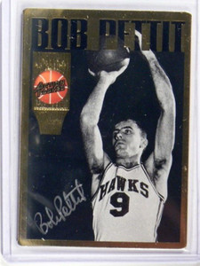 1994 Action Packed Bob Pettit auto autograph #27 *35414
