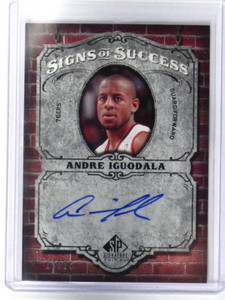 06-07 Sp Signature Signs Of Success Andre Iguodala auto autograph #D17/25 *36077