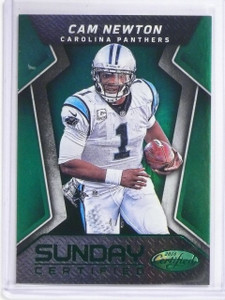 2016 Panini Certified Sunday Mirror Green Cam Newton #D4/5 #8 *60592