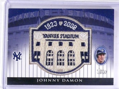 2008 Topps Series Commemorative Patch Yankees Johnny Damon #D097/100 #JD *63614