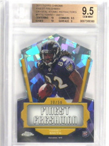 2011 Topps Chrome Freshman Crystal Atomic Torrey Smith rc #D20/50 BGS 9.5 *36410