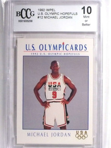 1992 Impel Olympic Hopefuls Michael Jordan #12 BCCG 10 MINT *67623
