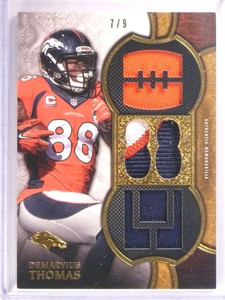2015 Topps Triple Threads Demaryius Thomas triple patch jersey #D7/9 *67806