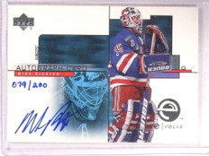 2000-01 Upper Deck E-card Evolve Mike Richter autograph auto #D79/200 *67918