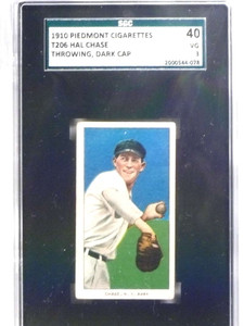 1909-11 T206 Hal Chase Piedmont Back Throwing SGC 40 = 3 VG *68004