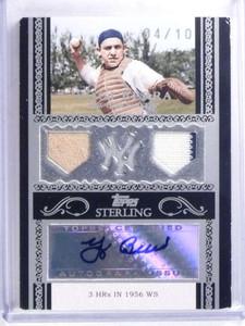 2007 Topps Sterling Yogi Berra autograph auto jersey #D04/10  *68040