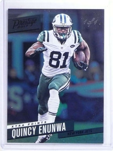 2017 Panini Prestige Xtra Points Black Quincy Enunwa #24 #D 1/1 *68199