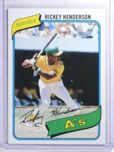 1980 Topps Rickey Henderson rc rookie #482 EXMT *68258