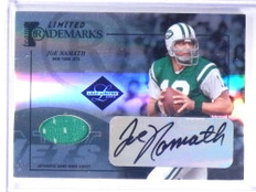 2005 Leaf Limited Trademarks Joe Namath autograph auto jersey #D16/25  *68343