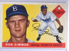 1955 Topps Don Zimmer rc  rookie #92 VG *68666