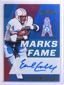 2017 Panini Absolute Marks OF Fame Earl Campbell autograph auto #D24/25 *68879