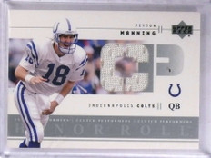 2002 Upper Deck Honor Roll Clutch Peyton Manning jersey #CP-PM *69153