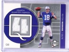 2002 Upper Deck Fourth Quarter Fabrics Peyton Manning jersey #FQ-PM *69184