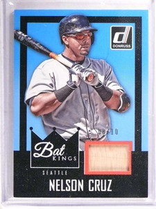 2016 Diamond Kings Bat Kings Nelson Cruz bat #D08/10 #BK-NC *69424