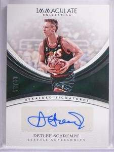 2016-17 Immaculate Collection Detlef Schrempf autograph auto #D58/99 *69361