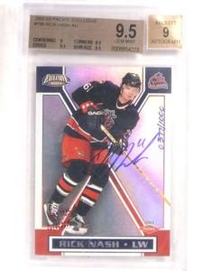 2002-03 Pacific Exclusive Rick Nash autograph auto rc #D377/1000 BGS 9.5 *69605