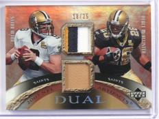 2007 Upper Deck Artifacts Drew Brees & Mcallister dual patch #D18/25 #DA-DD *380