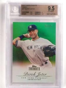 2012 Topps Tribute Green Derek Jeter #D57/75 #35 BGS 9.5 GEM MINT *69954