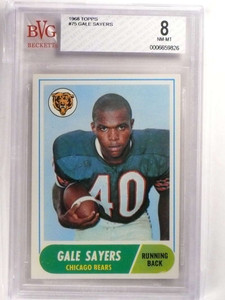 1968 Topps Gale Sayers #75 BVG 8 NM-MT Bears *69932