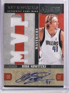 2009-10 Timeless Treasures MVP Dirk Nowitzki autograph jersey #D4/10 *70004