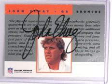 1991 Pro Line Portraits John Elway autograph auto COA STAMPED *70013