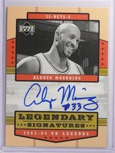 2003-04 Upper Deck UD Legends Signatures Alonzo Mourning autograph *70119