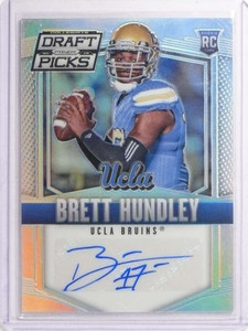2015 Panini Prizm Draft Picks Brett Hundley Rookie Autograph auto #106 *70230