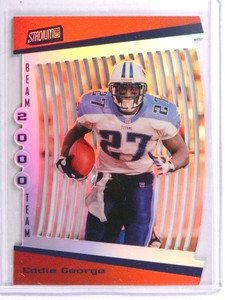 2000 Topps Stadium Club Beam Team Eddie George #D488/500 #BT9 *70814