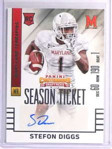 2015 Panini Contenders Draft Stefon Diggs autograph auto rc rookie #143 *71119
