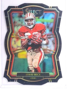 2017 Panini Select Prizm Black Diecut Jerry Rice #D 1/1 One of one #151 *70958
