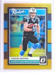 2017 Donruss Optic The Rookies Gold Prizm Christian Mccaffrey rc #D04/10 *70999