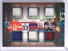 2017 Leaf ITG Superlative Gretzky Lemieux Roy Fuhr jersey 6x #D12/12 *71021