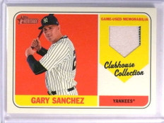 2017 Topps Heritage Clubhouse Collection Gary Sanchez Jersey #CCRGSA *71409
