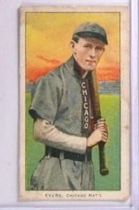 1909-11 T2065 Johnny Evers Polar Bear w/ Bat Chicago Shirt #167 Back Stamp *71352
